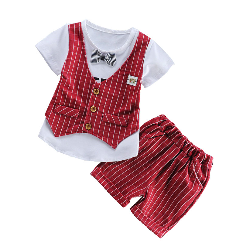2017 Fashion Baby Boys Clothing Set Bow Tie Gentleman Party Suit Set Long Sleeve Kids Boy Clothes Outfits Children Brand Clothes new 2018 spring fashion baby boy clothes gentleman suit short sleeve stitching plaid vest and tie t shirt pants clothing set