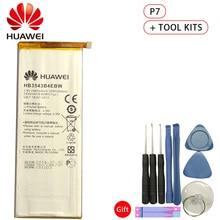 Hua Wei Original Phone Battery HB3543B4EBW for Huawei Ascend P7 L07 L09 L00 L10 L05 L11 2460mAh Replacement Batteries Free Tools