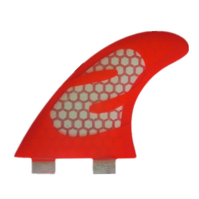 Nouvelles palmes de planche de Surf en Fiber de carbone 3 pièces/ensemble quilhas rouge nid d'abeille Pranchas Surf Surf Sup Paddle Blade G5 palmes de planche de Surf
