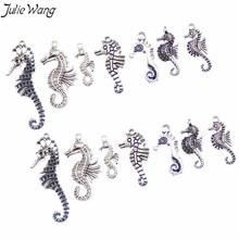 Julie Wang 14PCS Antique Silver Color Alloy 7-Types of Seaho