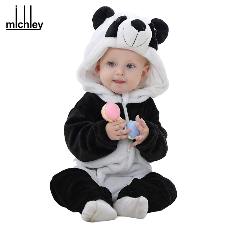 michley spring autumn baby clothes flannel baby boys clothes cartoon animal jumpsuits infant. Black Bedroom Furniture Sets. Home Design Ideas