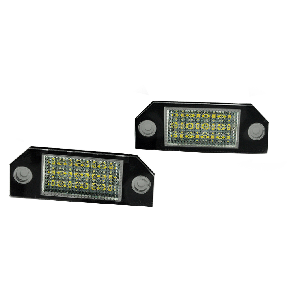 Auto Wayfeng WF 2Pcs 12V White 24 LED Number License Plate Light Lamp for Ford Focus C-MAX MK2 Car Light Source auto vehicles white led number license plate light lamps for opel insignia sports tourer mokka for buick for cadillac for gmc