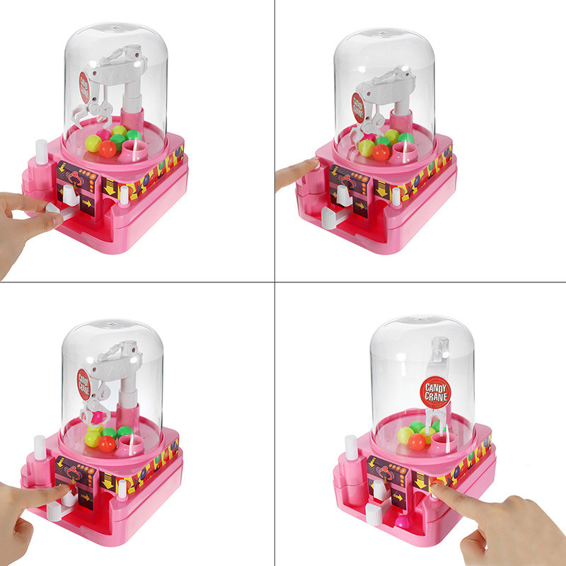 Clip Doll Machine Grab Ball Candy Catcher Crane Machine For Kids Children Party Fun Toys