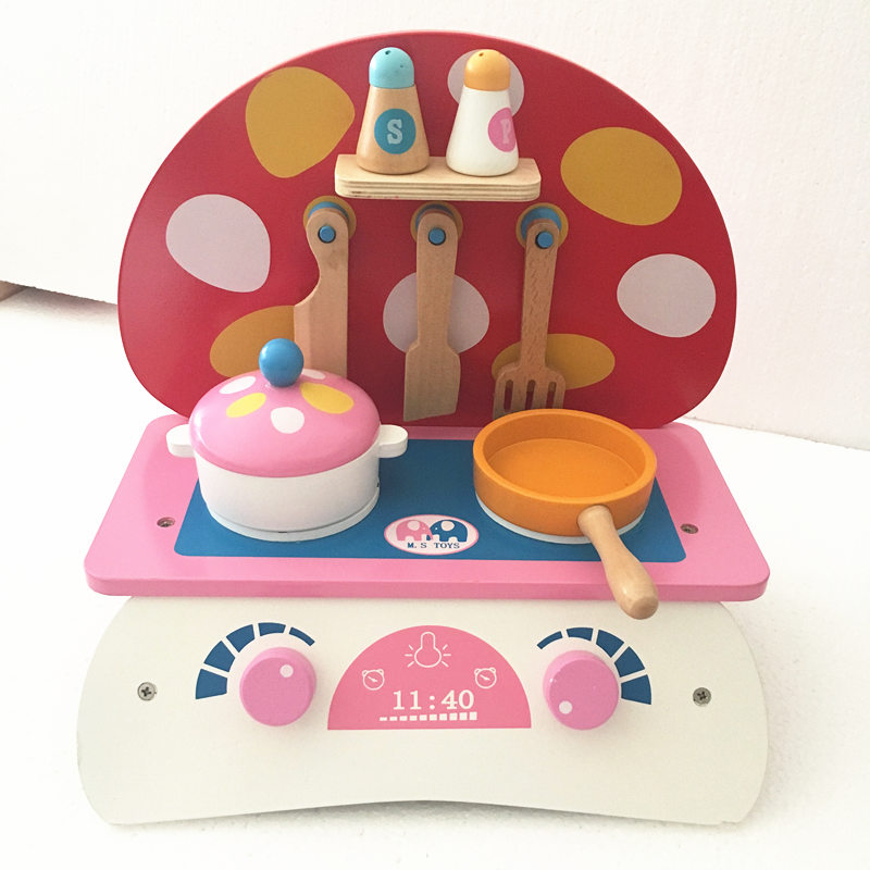 New Arrival Baby Mushroom Small Kitchen Set Wooden Toy Pretend Play Food Kitchen Toys Child Educational Birthday/Christmas Gift женские часы anne klein 2354svbn