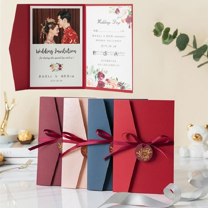 Wedding Invitations With RSVP Cards And Envelopes/Ribbon