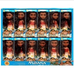 Image 5 - 12 pz/set nuovo film Moana Doll Toy princess Dress action figure giocattoli Moana boneca doll compleanno regalo di natale forniture per feste