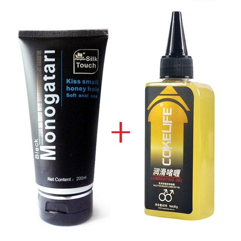 Analgésico sexo Anal lubricante masculino para aliviar el dolor lubricación agua Soluble Vaginal y Gel Anal productos sexuales para adultos 200 ml + 85g