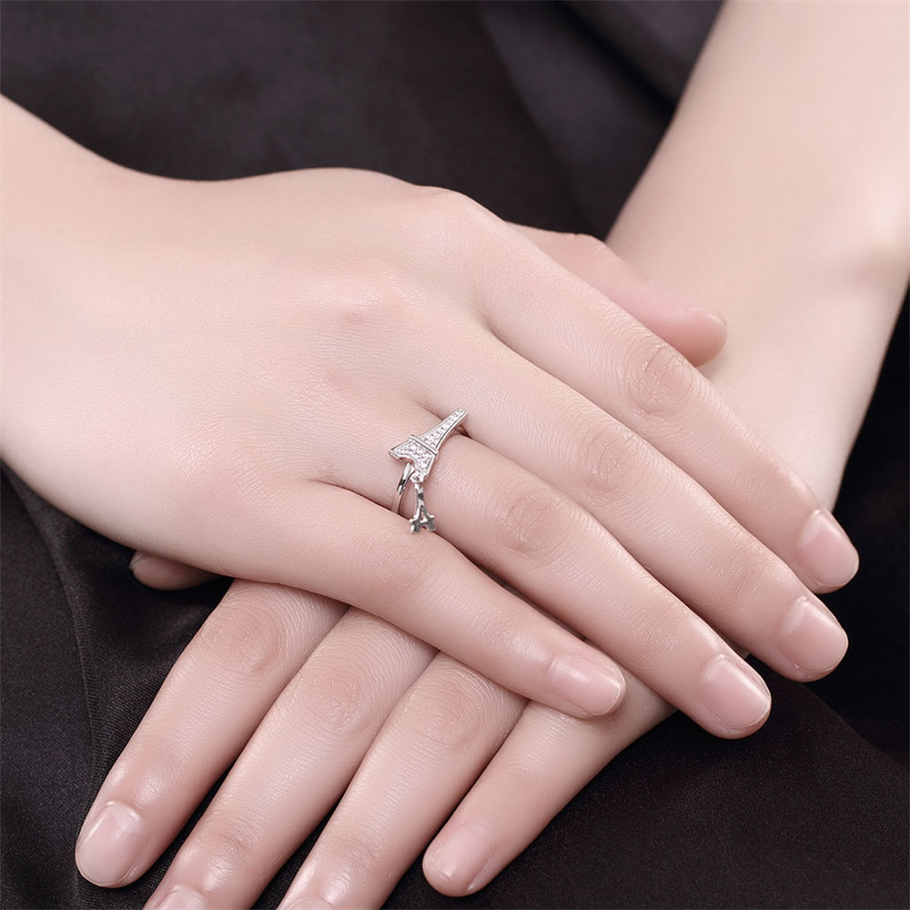 GAGAFEEL Anniversary Couple Ring Sterling Silver Jewelry For Women ...