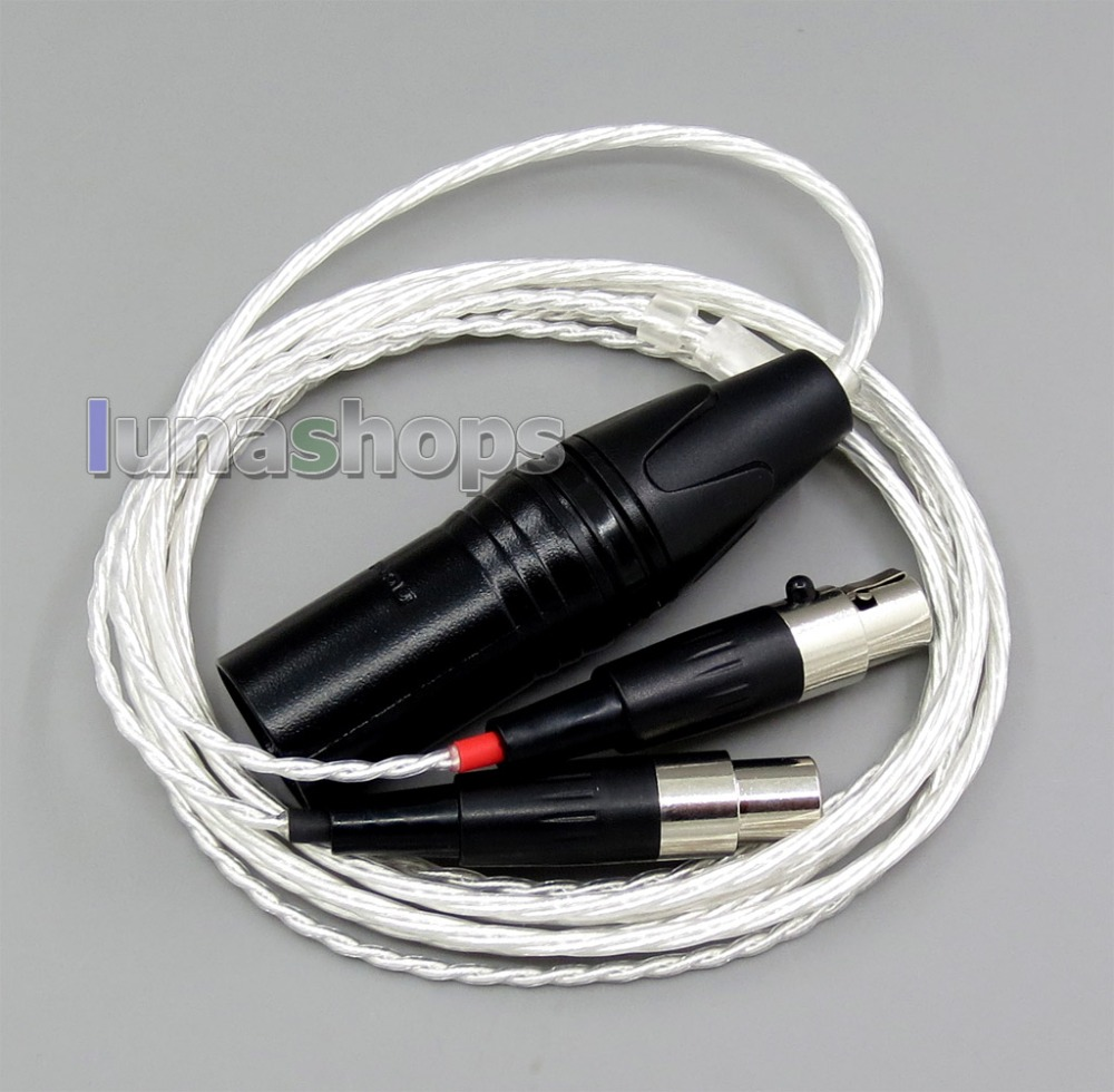 1.5m 4pin XLR Balanced 4*100 Cores OCC Pure Silver Plated Headphone Cable For Audeze LCD-3 LCD3 LCD-2 LCD2 LN006163 800 wires soft silver occ alloy teflo aft earphone headphone cable for audeze lcd 3 lcd3 lcd 2 lcd2 ln005399