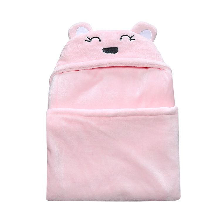 Kids TALES Spring Autumn And Winter With Little Bear Baby Coral Fleece Gin Is Pure Cotton Blanket Newborns Sleeping Bag Baby