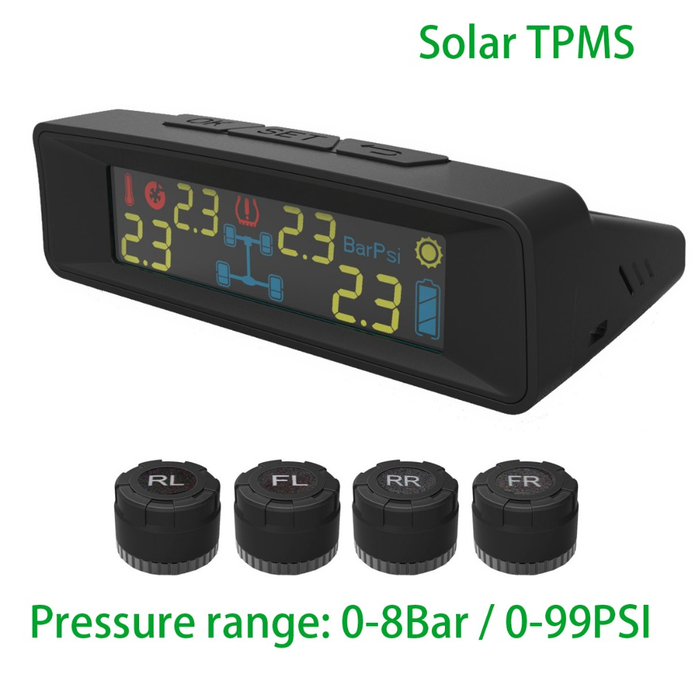 Solar TPMS Motor home Tire Diagnostic-tool with external sensor Auto Wireless Universal TPMS High Pressure 8Bar аксессуары для автомобильных шин gzautopart auto tpms oem 4l2t 1a150 tpms 315
