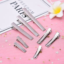 20Pcs 32/40/45/55/65/75mm Metal Clip Crocodile Duckbill Clip With Teeth Alligator Clips For DIY hair clips Jewelry accessories big bow toddler hair clips glitter pink covered metal alligator hair clip pink blue colorway children gift teeth claw head wear
