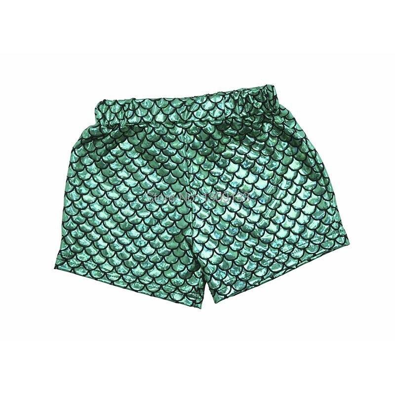 100% QualitäT Baby Kleinkind Mädchen Kleine Meerjungfrau Shorts Emerald Green Geburtstag Fischschuppen Shorts 3 6 12 18 24 Monate 2 T 3 T 4 T 5 T Kostüm Shorts
