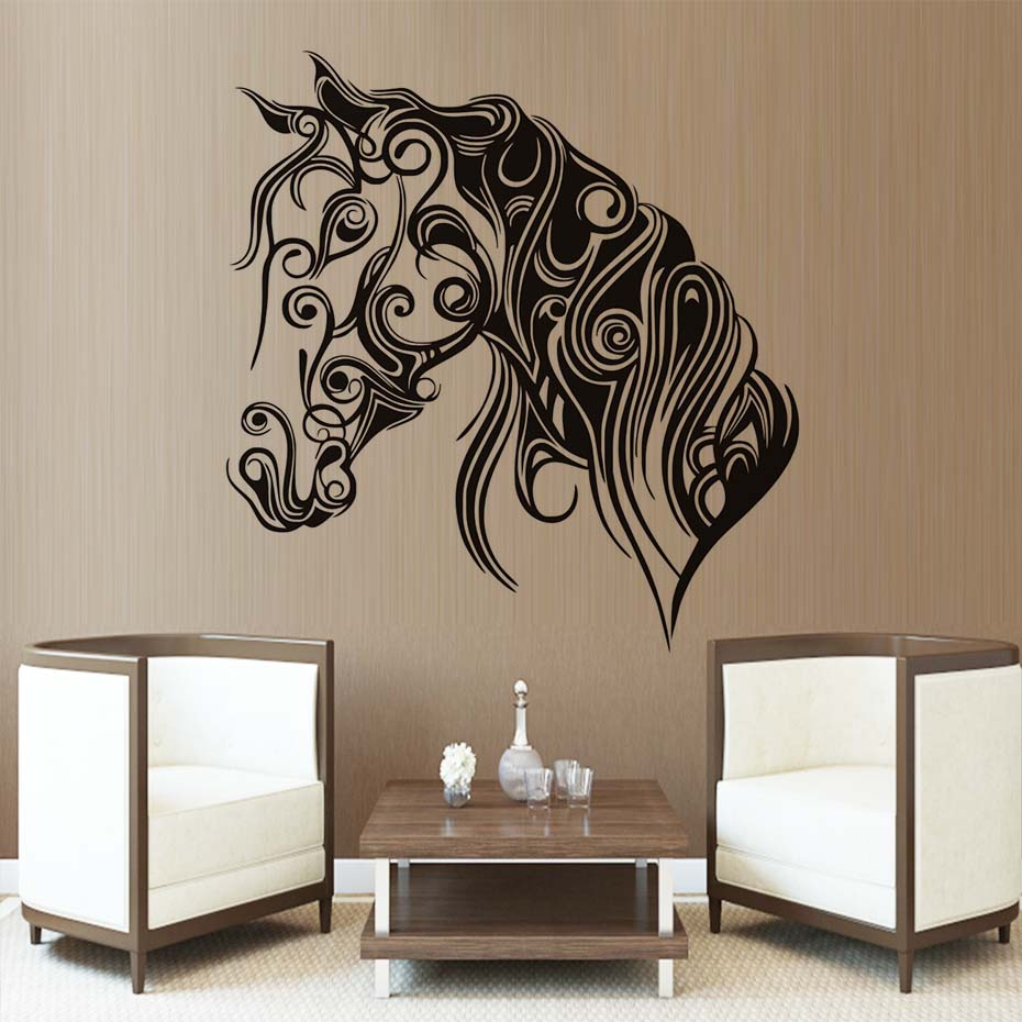popular oriental wall stickers buy cheap oriental wall stickers bedroom decoration wall decals orient art horse high quality waterproof wall stickers vinyl decal home decor