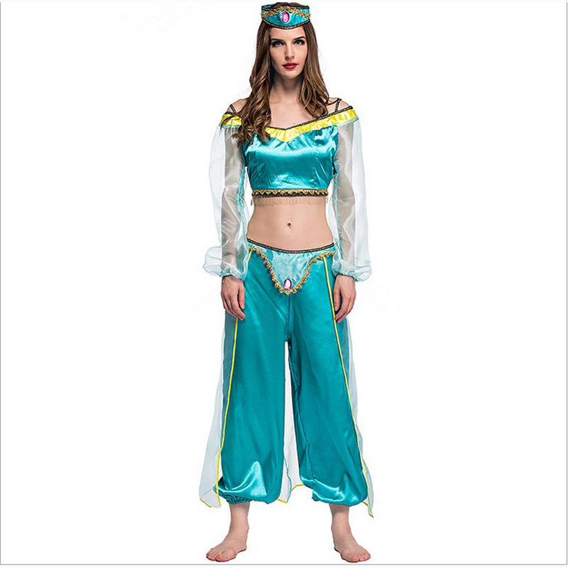 Adult women halloween party cosplay kid children girl princess jasmine costume Aladdinu0027s l& clothes clothing-in Girls Costumes from Novelty u0026 Special Use ...  sc 1 st  AliExpress.com & Adult women halloween party cosplay kid children girl princess ...