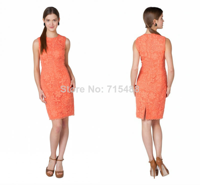 2014 New Western Formal Italian Sexysee Through Lace Cocktail Party