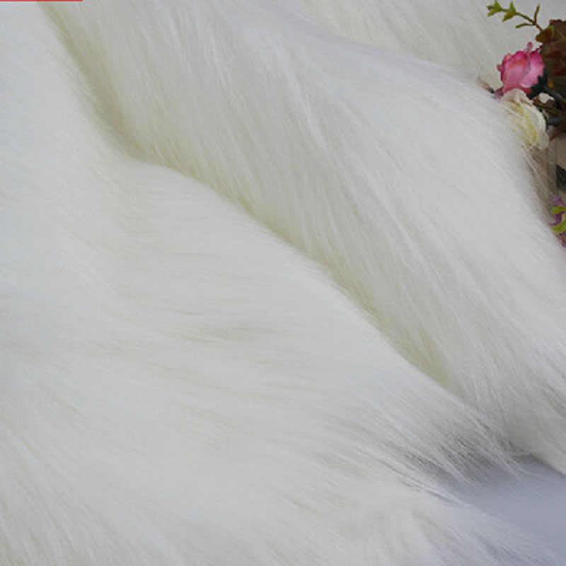 Saf peluş kumaş taklit tilki saç halı kumaş takı cep telefonu sayacı bez cosplay yapay kürk