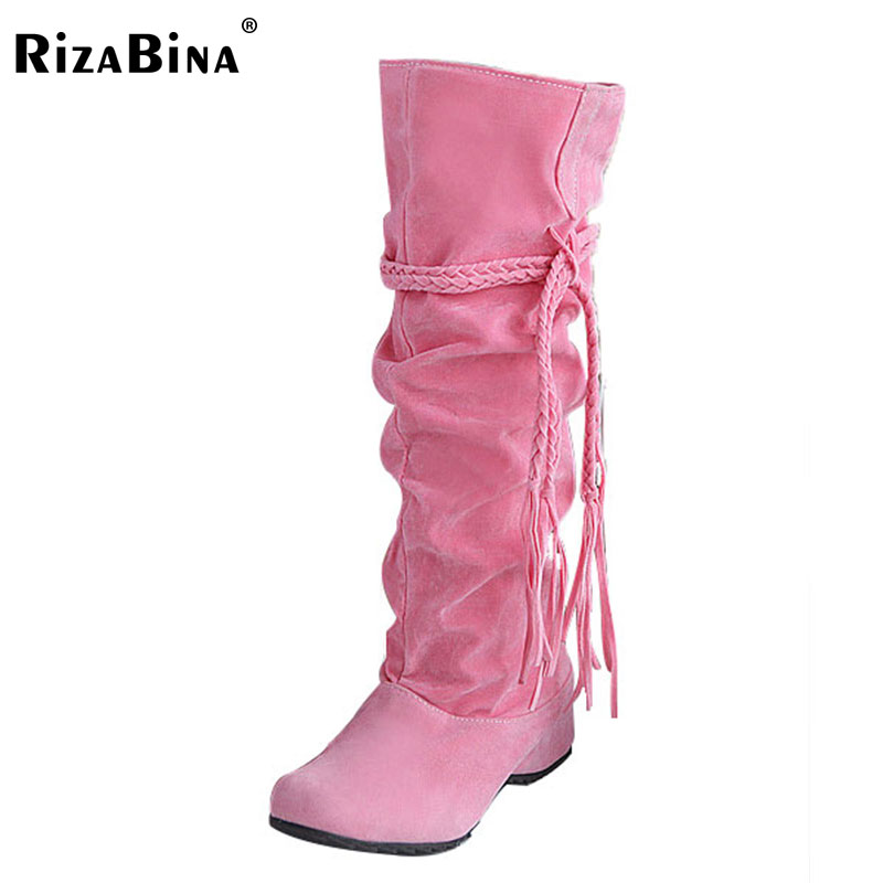 RizaBina women flat over knee boots ladies riding  long snow boot warm winter brand botas footwear shoes P16046 EUR size 34-43 size 30 44 women flat over knee boots ladies riding fashion long snow boot warm winter brand botas footwear shoes p10263