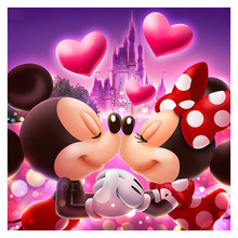Diy Diamond Painting Cross Stitch Kissing Couple Mickey Mouse Mosaic Full Embroidery Rhinestone Gift Decoration
