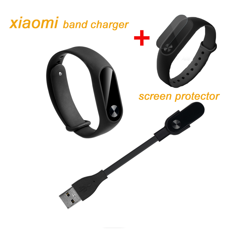 Za Xiaomi Mi Band 2 Zamjena USB kabel za punjenje + 2pcs zaštitnik zaslona za Xiaomi Smart Band 2 pribor