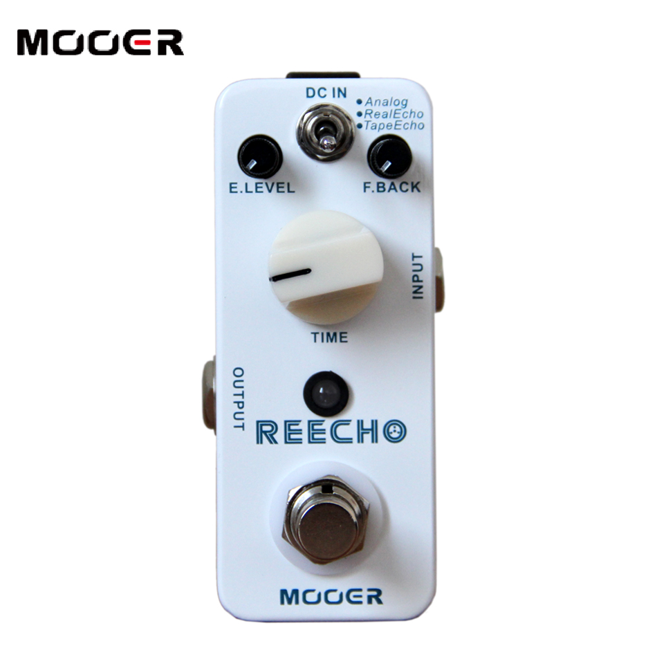 Free shipping!!!NEW Effect Guitar Pedal /MOOER REECHO Pedal,True bypass Full metal shell new effect pedal mooer solo distortion pedal full metal shell true bypass