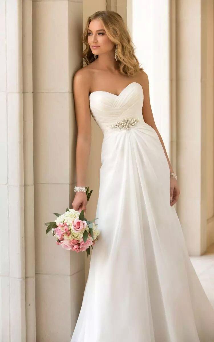 2017 New Arrival In Stock Wedding Dresses Chiffon vestidos de novia Beach Bridal Gowns White/ Ivory / Red Boho Wedding dress