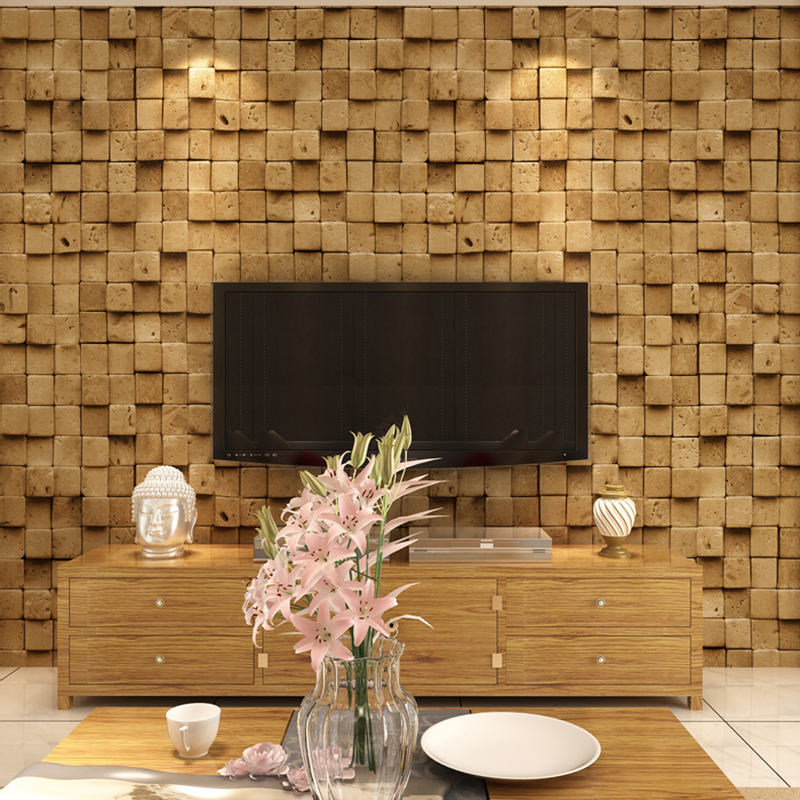 Chinese Style Retro Stone Brick Wallpaper Bar Restaurant Corridor Living Room Backdrop Wall PVC Vinyl Waterproof Wall Paper Roll custom retro wallpaper brick wall 3d wallpaper mural for the living room bedroom kitchen backdrop wall waterproof pvc wallpaper