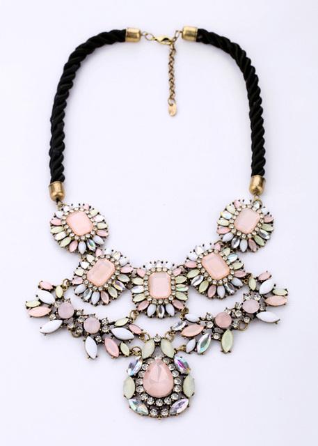 Venta caliente Encantadora Pincess Cuerda Collar de Cadena de Oro Antiguo Plateado Sueño Rosa