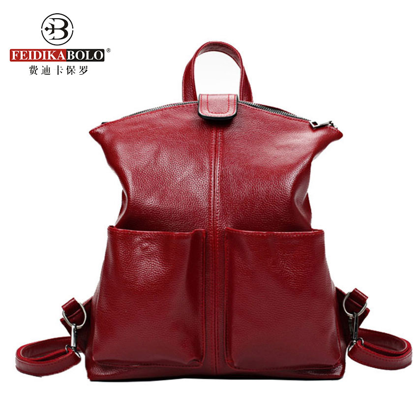 Multifunction Leather Backpack Women Backpacks For Teenage Girls Korea Fashion Middle School Backpack Lady Sac A Dos Mochila 100% full genuine leather backpack women s backpack school backpacks for teenage girls mochila feminina sac a dos dollar price
