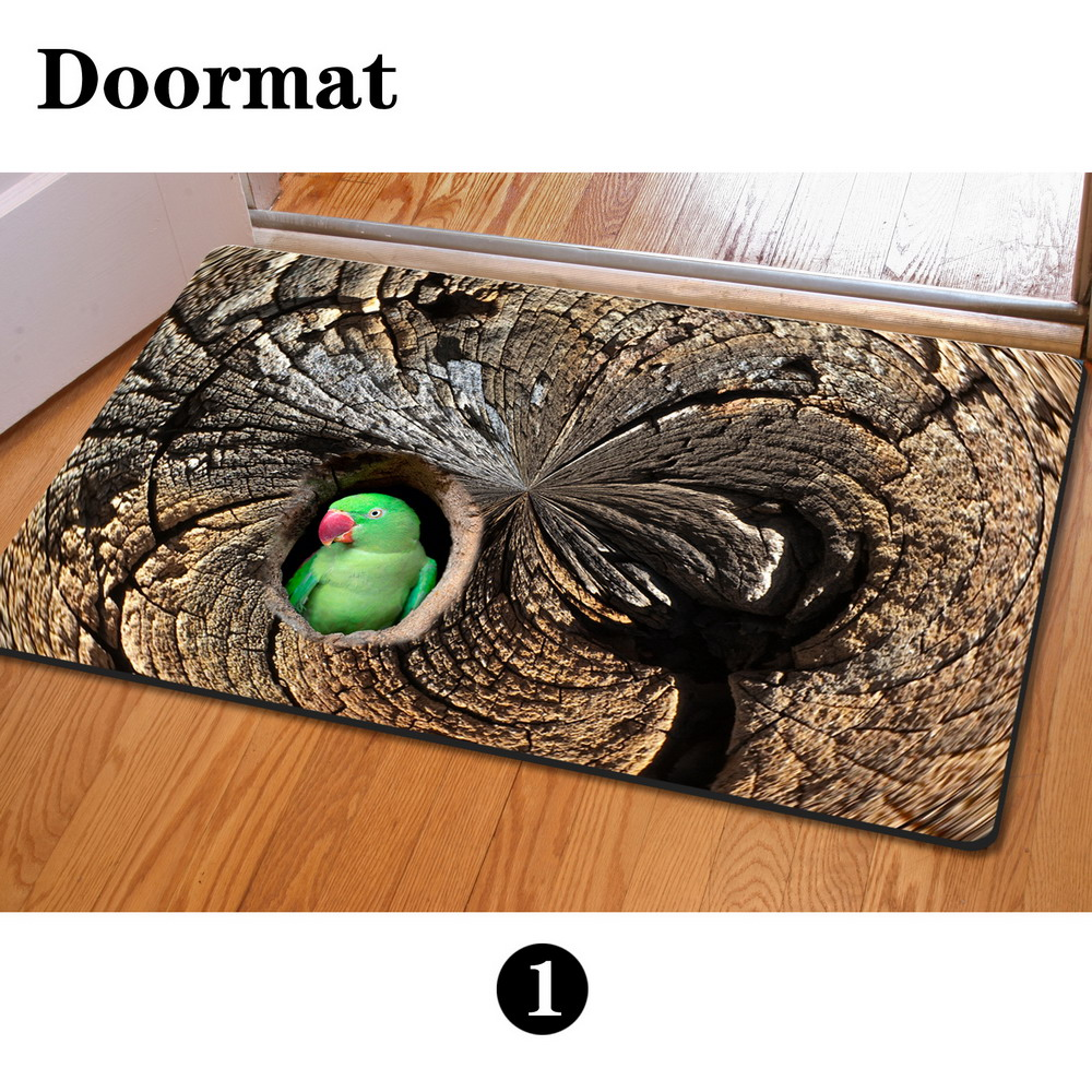 Newest Floor Mats 400*600mm 3D Owl Animal Print House Door Mats Cute  Squirrel Bathroom Anti Slip Outdoor Carpet For Living Room In Mat From Home  U0026 Garden On ...