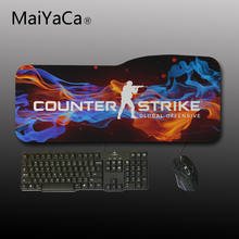 MaiYaCa Big Gamer Mouse Pad 750X310mm Speed Gaming Mouse Pad Locking edge Laptop Mats For Cs Go Dota Computer Players