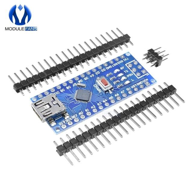 Мини USB CH340 Nano v3.0 3,0 ATmega328P плата контроллера Совместимость для Arduino Nano CH340 Драйвера USB нано V3.0 ATmega328