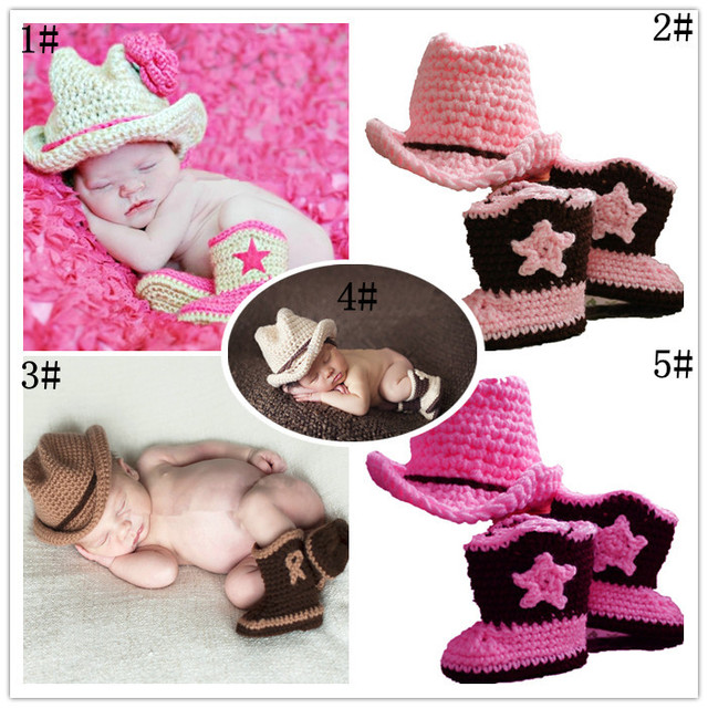 6701a310313 Newborn Photography Prop Handmade Infant Baby Knitted Cow Boy Costume  Crochet Hat Baby Accessories Clothing Hat +shoes 0-12month