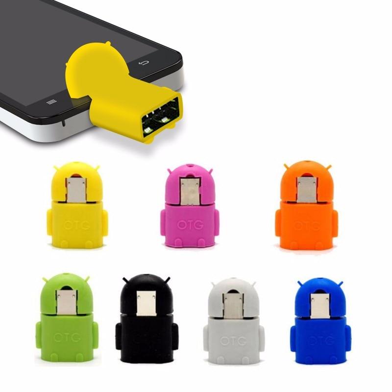 1 Stück Adpter Micro Usb Zu Usb Otg Adapter Für Universal Android Smartphone Tablet Pc Verbinden Zu Blinken Maus Tastatur Roboter Form Offensichtlicher Effekt