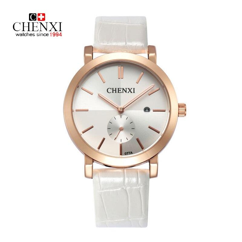 CHENXI 2016 Men Watch With Calendar Leather Strap Quartz Watch Unique Date Hour Gold Wrist Watch Male Dress Clock Sport Watches 2016 chenxi calendar gold quartz watch