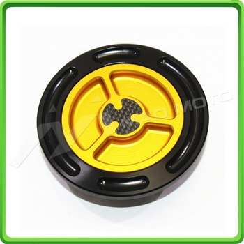 Motorcycle Keyless Carbon Gas Tanks Fuel Cap Cover - For BMW S1000R 2014-2017 & S1000RR 2009-2017 Yellow