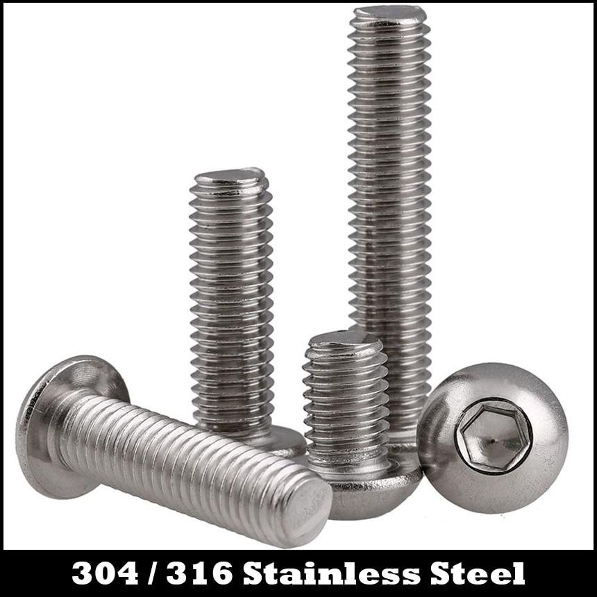 M6*8 M6x8 M6*10 M6x10 M6*12 M6x12 M6*20 M6x20 304 316 Stainless Steel ss DIN7380 Mushroom Round Hexagon Socket Button Head Screw сервер lenovo x3250 m6 3943e6g