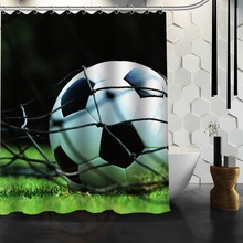 Classical Design Football Never Stopping Waterproof Shower Curtain For  Bathroom Products Mildewproof PEVA Bath Curtain 66x72