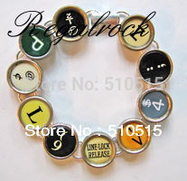 Regalrock Fashion Typewriter Interpunktion Key Bracelet