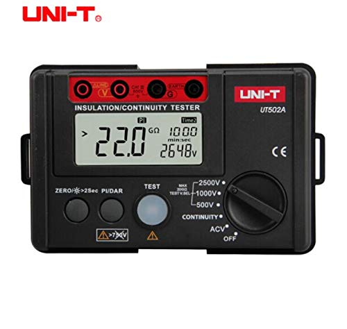 UNI T UT502A 2500V Insulation Resistance Testers Megohmmeter Voltmeter Continuity Tester Meter Megger w LCD Backlight