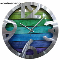 Homingdeco 12inch simple Wall Clock Wood Modern Design Grain Silent Living Room beautiful Wall Clocks Home Decor quartz 2018