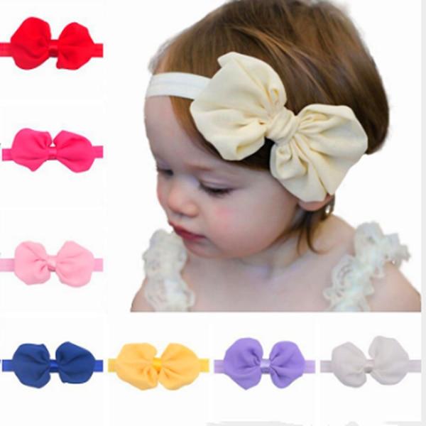 Diadema bebé hecho a mano niño infantil niños accesorios para el cabello niña recién nacido arcos Bowknot vendaje turbante Tiara