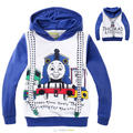 2-8 Años Invierno Muchachos de Los Niños Thomas Tren Abrigos Sportswears Ropa Para Niños Chaquetas para Niños niños de Dibujos Animados Niñas Silbó disfraces