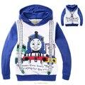 2-8 Anos Crianças de Inverno Meninos Casacos de Thomas Trem Sportswears Meninas Piou Roupas Crianças Jaquetas para Meninos Miúdo Dos Desenhos Animados trajes