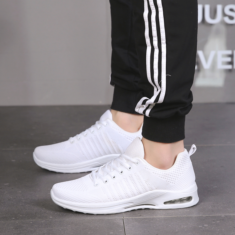 Sports & Entertainment Capable Weweya White Men Running Shoes Light Cushioning Sports Shoes Breathable Weaving Male Sneakers Cool Black Jogging Eur Size 36-45 Agreeable To Taste Sneakers