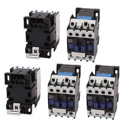 CJX2-D0910 AC 110V Coil Volt NO 3-Pole Electric Power AC Contactor 5pcs cjx2 09 motor control 3 poles 1 no coil volt ac 380v contactor