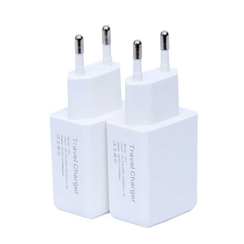 듀얼 USB 휴대 전화 충전기 5V 2A 유럽 표준 EU 미국 플러그 유니버설 InItaly 스위스 브라질 프랑스 독일 스웨덴