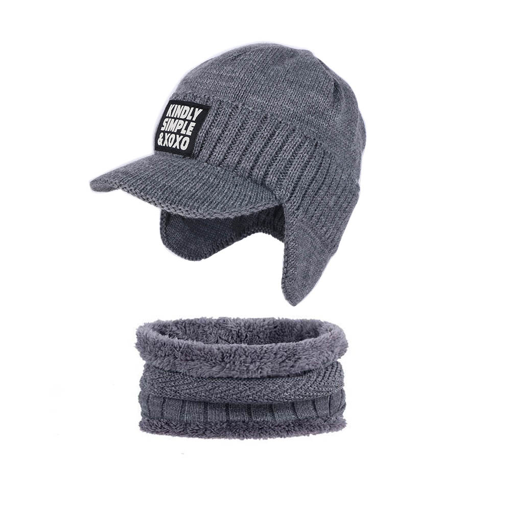 2018 new men casual winter hat sets Real Wool beanies skullies gorros Ear protectors with hat knitted solid scarf scarves sets