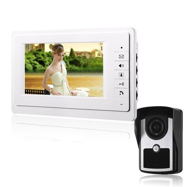 On Big Sale 7`` TFT Color Video door phone Intercom Doorbell System Kit IR Camera doorphone monitor Speakerphone intercom