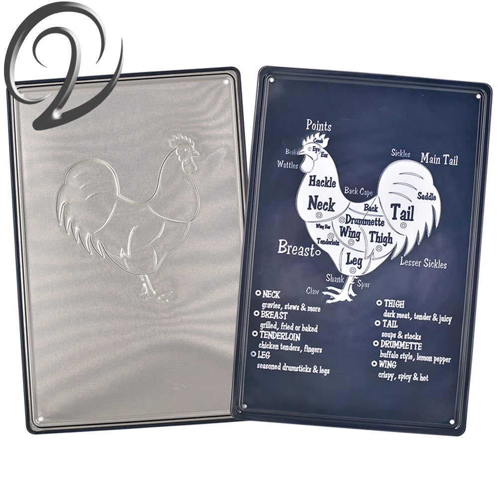 Us 11 7 Chicken Butcher Guide Tin Signs Chalkboard Shop Signs Home Kitchen Living Room Vintage Metal Signs Plaques Retro Metal Poster In Plaques